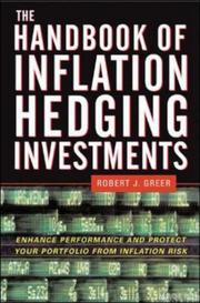 Cover of: handbook of inflation hedging investments | Robert J. Greer