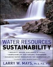 Cover of: Water Resources Sustainability
