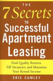 Cover of: The 7 Secrets to Successful Apartment Leasing | Eric Cumley