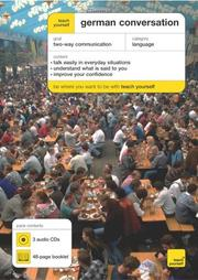 Cover of: Teach Yourself German Conversation (3CDs + Guide) (Teach Yourself) | Paul Coggle
