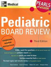 Cover of: Pediatric board review |