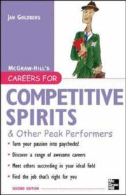 Cover of: Careers for Competitive Spirits & Other Peak Performers