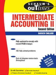 Schaums Outline of Intermediate Accounting II, Second Edition (Schaums Outlines)