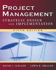 Cover of: Project Management | David L. Cleland, Lewis R. Ireland