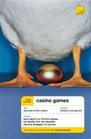 Cover of: Teach Yourself Casino Games New Edition (Teach Yourself) | Belinda Levez
