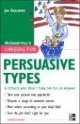 Cover of: Careers for Persuasive Types & Others who Won't Take Nop for an Answer (Careers for You Series)
