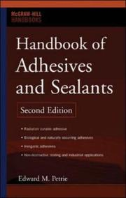 Cover of: Handbook of Adhesives and Sealants | Edward M. Petrie