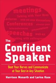 Cover of: The Confident Speaker | Harrison Monarth