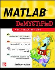 Cover of: MATLAB Demystified | David McMahon