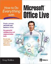 Cover of: How to Do Everything with Microsoft Office Live (How to Do Everything)
