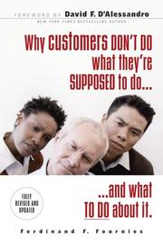 Cover of: Why Customers Don