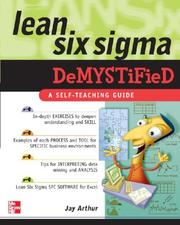 Cover of: Lean Six Sigma Demystified | Arthur