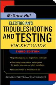Cover of: Electrician's troubleshooting and testing pocket guide