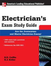Cover of: Electrician's Exam Study Guide (McGraw-Hill's Electrician's Exam Study Guide) | Brian Coffin, Kimberley Keller