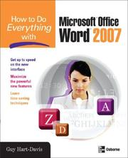 Cover of: How to Do Everything with Microsoft Office Word 2007 (How to Do Everything)