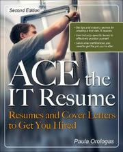 Cover of: ACE the IT Resume | Paula Moreira