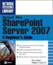 Microsoft® Office SharePoint® Server 2007 by Ron Gilster