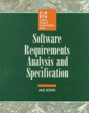 Cover of: Software requirements analysis and specifications | Jag Sodhi