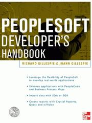 Cover of: Peoplesoft Developer's Handbook