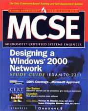 Cover of: MCSE designing a Windows 2000 network |