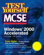 Cover of: Test yourself MCSE, Windows 2000 accelerated (exam 70-240) |