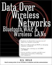 Cover of: Data Over Wireless  Networks