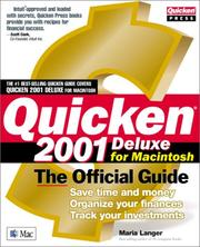 Cover of: Quicken(r) 2001 Deluxe For Macintosh: The Official Guide