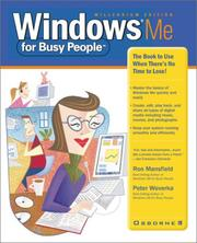 Cover of: Windows Me for busy people