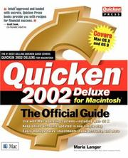 Cover of: Quicken(r) 2002 Deluxe for Macintosh(r): The Official Guide