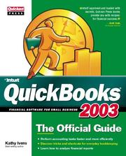 Cover of: QuickBooks 2003 | Kathy Ivens