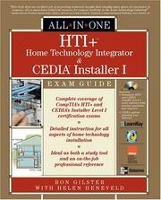Cover of: HTI+ Home Technology Integration All-in-One Exam Guide (All-in-One) | Ron Gilster