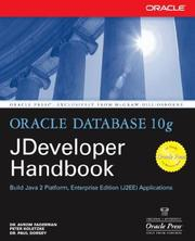 Cover of: Oracle JDeveloper 10g handbook | Avrom Faderman