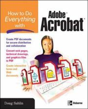 Cover of: How to Do Everything with Adobe Acrobat 8 (How to Do Everything) | Doug Sahlin