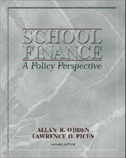 Cover of: School finance: a policy perspective