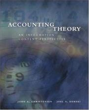 Cover of: Accounting Theory | John Christensen
