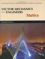 Cover of: Vector mechanics for engineers
