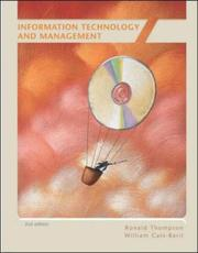 Cover of: Information Technology and Management | Ronald Lawrence Thompson