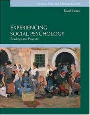 Cover of: Experiencing Social Psychology | Ayala M Pines, Beverly A. Potter