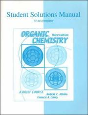 Cover of: Student Solutions Manual to accompany Organic Chemistry | Atkins, Robert C.