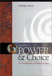 Cover of: Power & choice | W. Phillips Shively