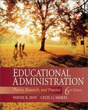 Educational administration by Wayne K. Hoy