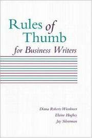 Cover of: Rules of thumb for business writers
