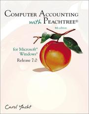 Cover of: Computer accounting with Peachtree for Microsoft Windows