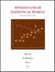 Cover of: Applied linear statistical models. |