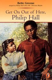 Cover of: Get on out of here, Philip Hall