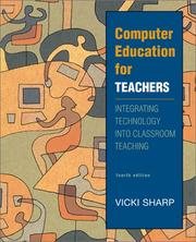 Cover of: Computer education for teachers | Vicki F. Sharp