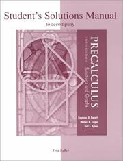 Cover of: Student's solutions manual to accompany precalculus