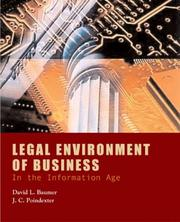 Cover of: Legal environment of business in the information age