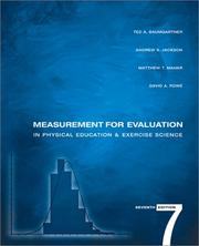 Cover of: Measurement for evaluation in physical education and exercise science |