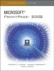 Microsoft FrontPage 2002 by Kenneth C. Laudon